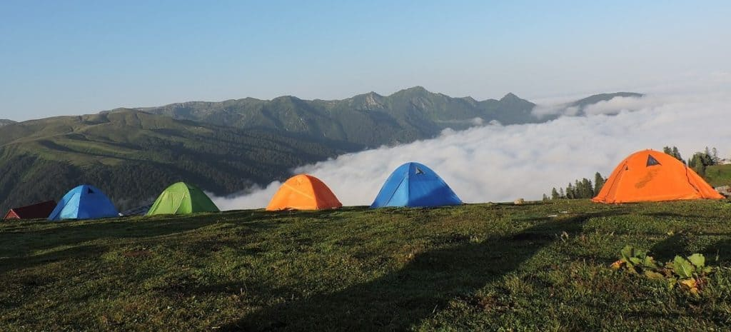 a line of 4 season backpacking tents