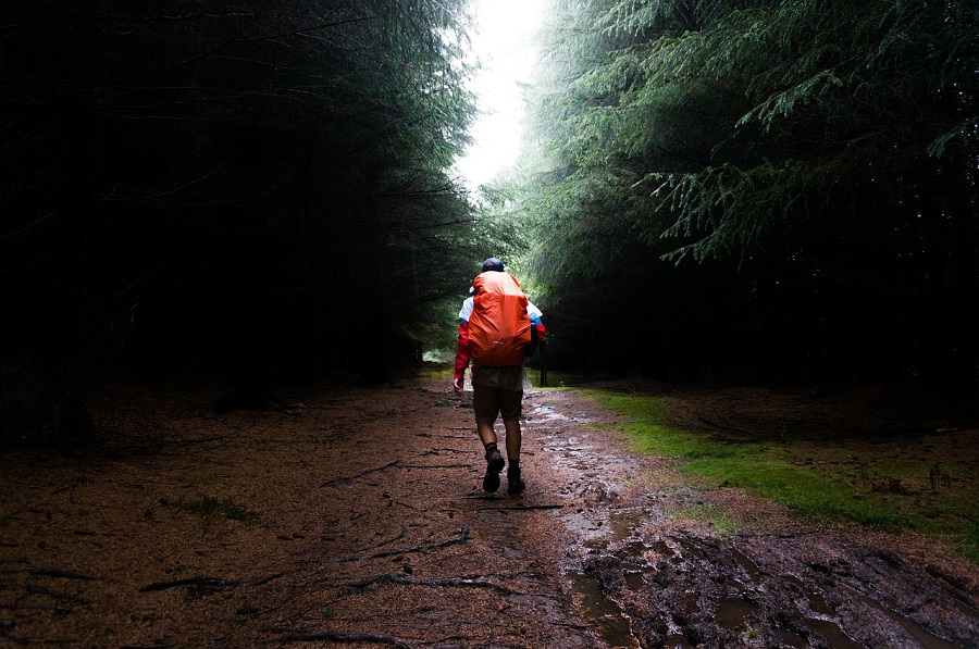 hot and humidity takes its toll on body temperature when hiking. Staying hydrated helps cool us off.