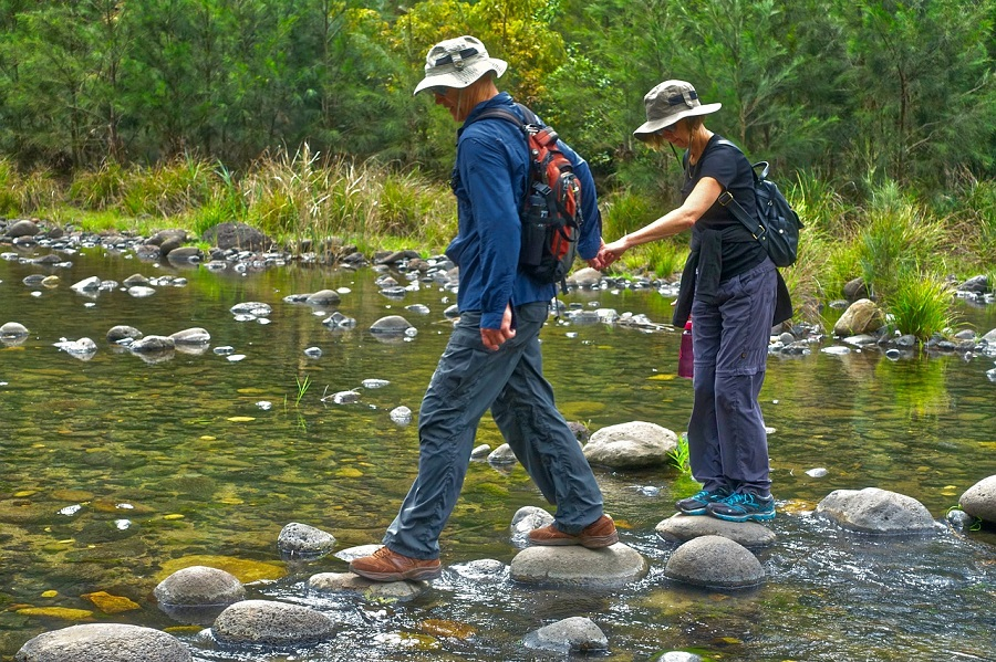 river or stream crossing safely and for dry feet