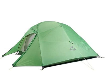 A lightweight backpacking tent weighs less but provides enough comfort on the trail