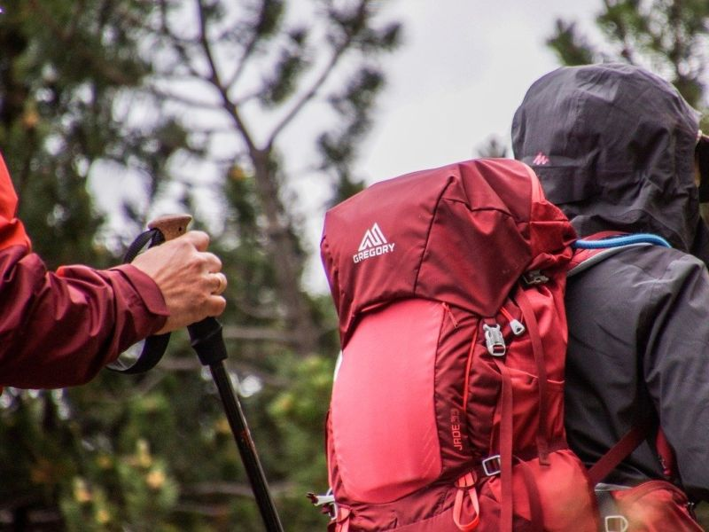 recommended backpack hiking in the rain