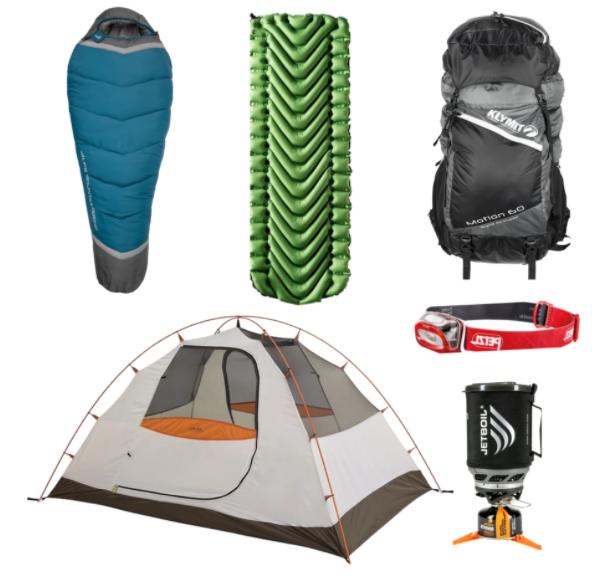 Campcrate Backpacking Rental Package