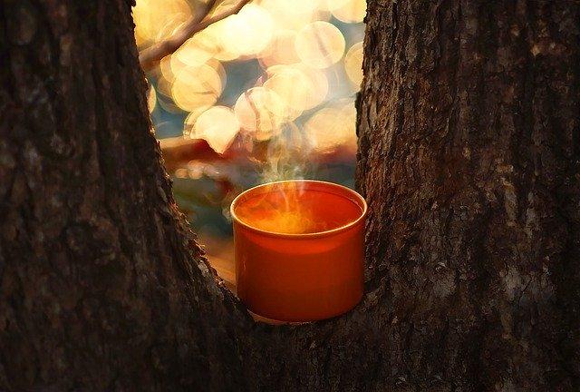 warm coffee camping
