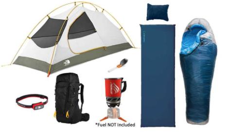 Kit Lender 1-Person Deluxe Backpacking Rental Package