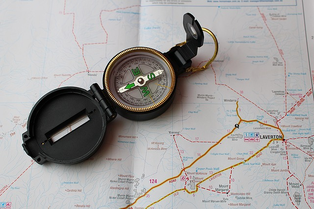 map and compass skills on backpacking trip