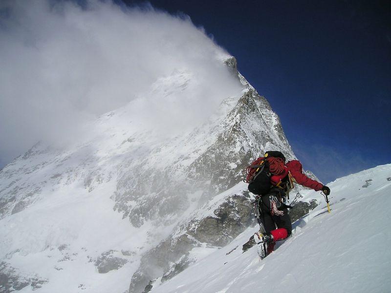 mountain climber at altitude pulmonary edema