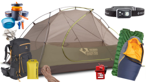 Mountainside Gear and Rentals Backpacking Package